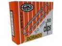 CLIPS N°50 PEDIN PUNTA REDONDA DORADO X 50 UD