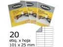 ETIQUETA INK-JET 101X 25-2C 25HJ 500 ETIQ ADETEC