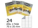 ETIQUETA INK-JET 70X 35-3C 50HJ 1200 ETIQ ADETEC