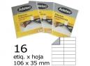 ETIQUETA INK-JET 106X 35-2C 10HJ 160 ETIQ ADETEC
