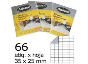 ETIQUETA INK-JET 35X 25-6C 50HJ 3300 ETIQ ADETEC