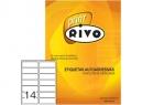 ETIQUETA INK/LASER 34X102-2C 100HJ RIVO 14 ET.XHJ