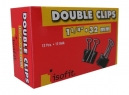 DOBLE CLIPS NEGROS 1.1/4- 32MM X 12UN ISOFIT