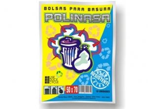 BOLSA BASURA 50 X 70 POLINASA 10 UNID.