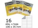 ETIQUETA LASER 106X 35-2C 50HJ 800 ETIQ ADETEC