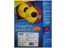 ETIQUETA AVERY 18692 CD BL INKJET 2XHJ 20UDS