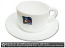 TAZA PARA CAFE C/PLATILLO BLANCA MARLY ARCOPAL