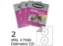ETIQUETA INK-JET P/CD BLANCA 25HJ. ADETEC