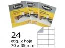 ETIQUETA INK-JET 70X 35-3C 25HJ 600 ETIQ ADETEC