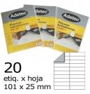 ETIQUETA LASER 101X 25-2C 50HJ 1000 ETIQ ADETEC