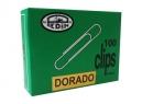 CLIPS N°1 PUNTA REDONDA DORADO PEDIN 100 UD