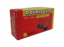 DOBLE CLIPS NEGROS 1/2 - 15MM X 12 ISOFIT