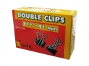 DOBLE CLIPS NEGROS 1.5/8- 41MM X 12UN ISOFIT