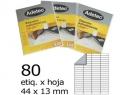 ETIQUETA INK-JET 44X 13-4C 50HJ 4000 ETIQ ADETEC
