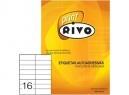 ETIQUETA INK/LASER 35X108-2C 50HJ RIVO 16 ET.XHJ