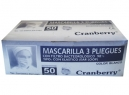 MASCARILLA PROTECCION RECT.C/ELASTICO 50 UNID.