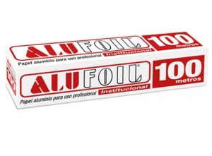 PAPEL ALUMINIO ALUSA FOIL INDUSTRIAL 30 X 100 MTS