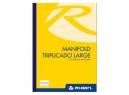 LIBRETA MANIFOLD TRIPLICADA LARGE RHEIN