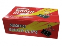 DOBLE CLIPS NEGROS 2- 51MM X 12UN SELLOFFICE
