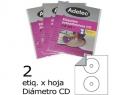 ETIQUETA LASER P/CD BLANCA 25HJ. ADETEC