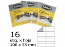 ETIQUETA INK-JET 106X 35-2C 50HJ 800 ETIQ ADETEC
