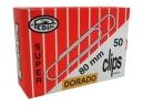 CLIPS N°80 PEDIN PUNTA REDONDA DORADO X 50 UD